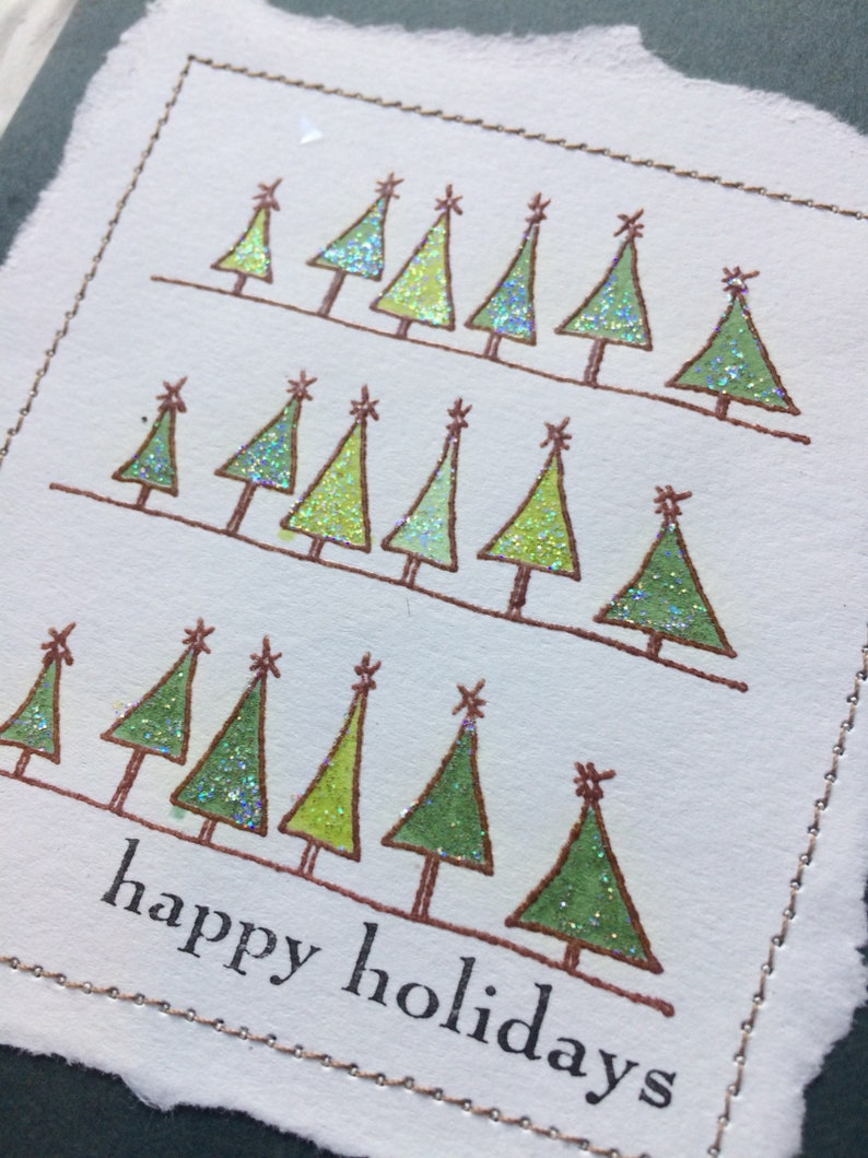 Christmas Tree border rubber stamp from oldislandstamps