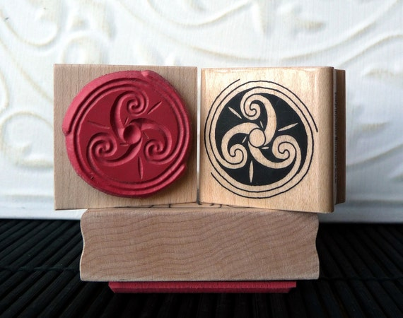 Cross rubber stamp from oldislandstamps