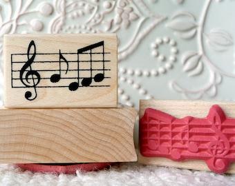 Music Notes rubber stamp from oldislandstamps
