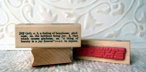 Joy Definition Rubber Stamp From Oldislandstamps