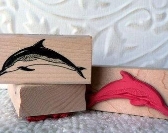 Dolphin rubber stamp from oldislandstamps
