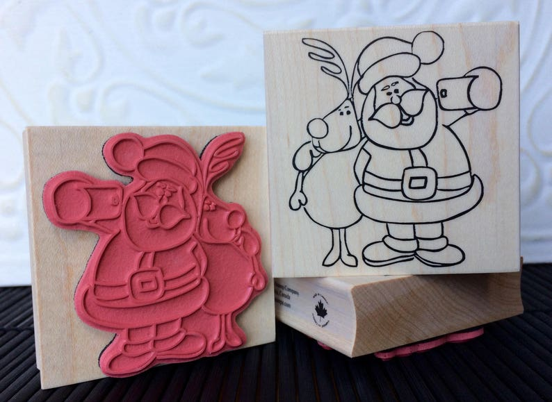 Santa Selfie rubber stamp from oldislandstamps