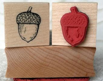 Acorn rubber stamp from oldislandstamps