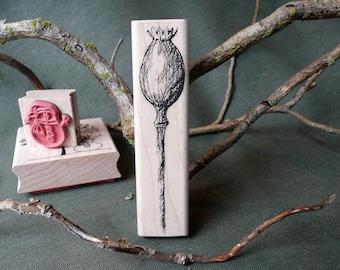 Poppy Pod rubber stamp from oldislandstamps