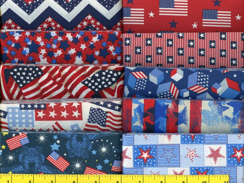 new combination Red White and Blue Patriotic Jelly Roll 40-2 12 inch strips