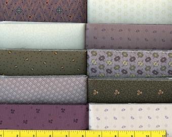 New Item - Plum Fantasy Jelly Roll Fabric   40 - 2 1/2 inch Strips