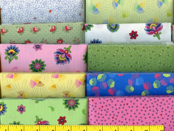 """Spring Pink /& Purple Flowers Jelly Roll 40-2.5/"""" Strips Quilting Fabric"""