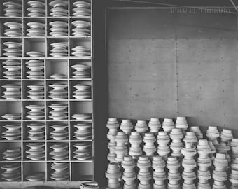 Abandoned Photography, 8x10, Industrial Photography, Industrail Decor, Black and White Photography, Ceramics, Urban Exploration, Abstract