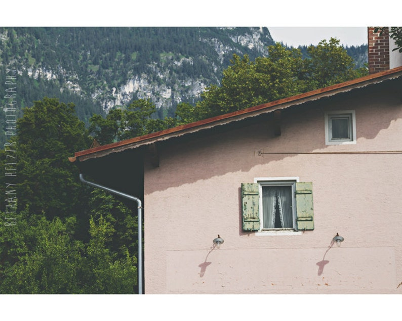 Architecture Photography 8x12 Print Pink House Print image 0