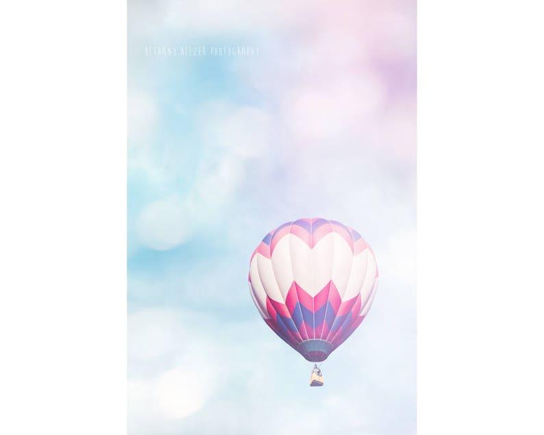 Hot Air Balloon Photography Dreamy Photography Nursery Decor image 0