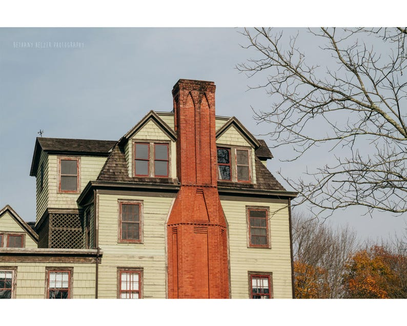 Architecture Photography Old House Print Autumn Photography image 0