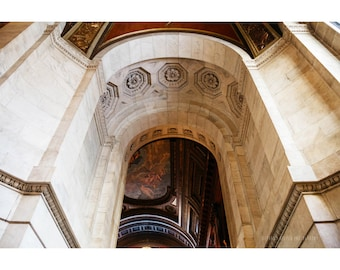 New York Public Library NYC Photography Architecture Photography Large Wall Art New York City Manhattan Midtown Interior Ceiling I Love NY