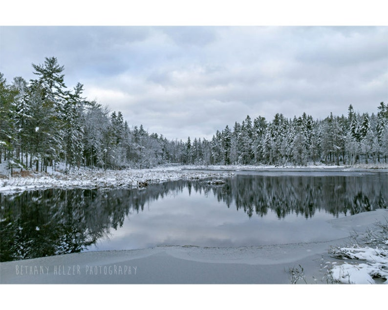 Winter Landscape Photography 8x12 Print Dreamy Photography image 0
