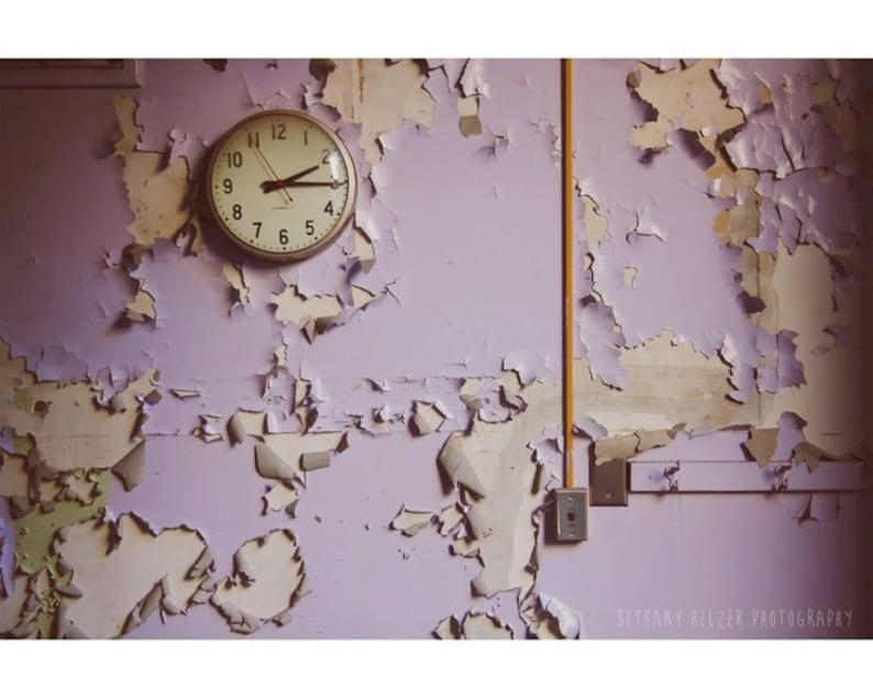 Abandoned Building Photography 8x12 Print Purple Urban image 0