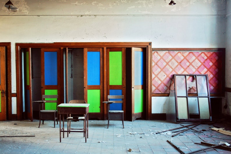 Vibrant Decay 8x12 Print Abandoned Building Photography image 0