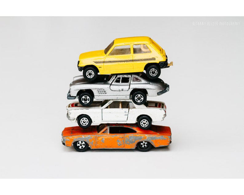 Toy Car Print Still Life Photography Vintage Toys Kids Room Etsy