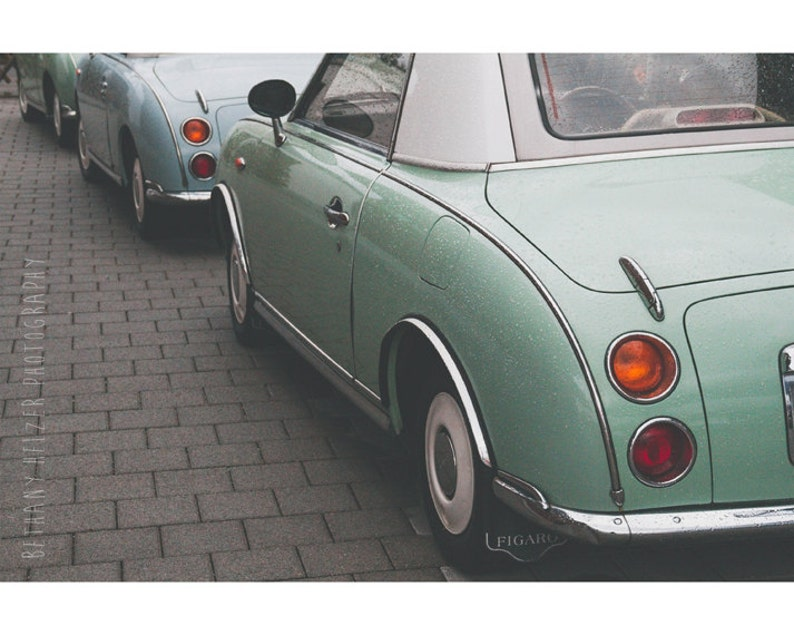 Vintage Car Photography Germany Photography Mint Green Figaro image 0