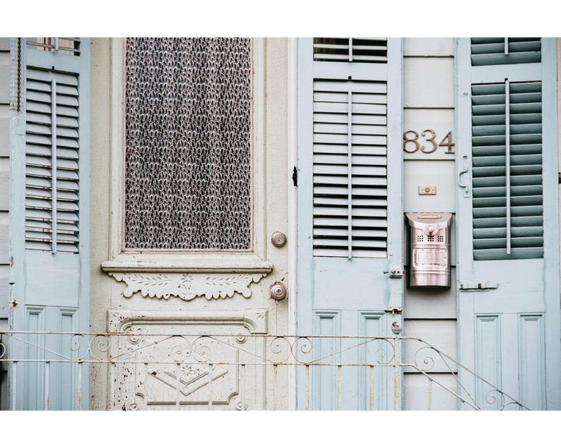 New Orleans French Quarter Photography Rustic Decor Door image 0