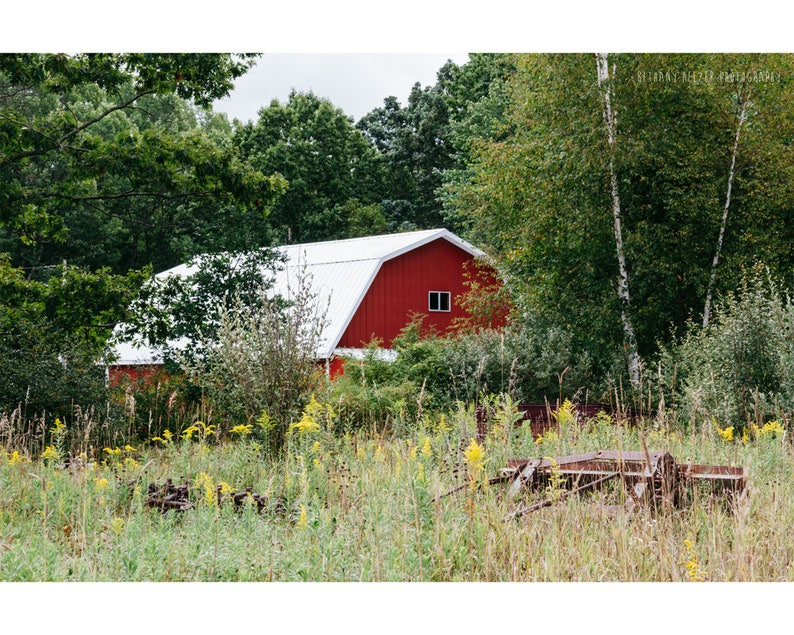 Red Barn Rustic Photography Landscape Photography Architecture image 0