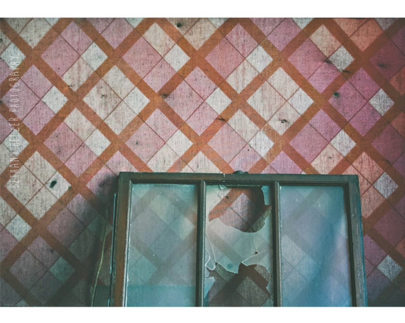 Abandoned Building Photography 5x7 Print Pattern Decor image 0