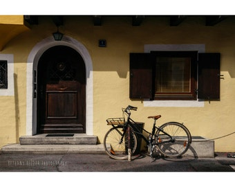 Architecture Photography, Bicycle Print, Germany Photograph, Street Photography, Bicycle Photograph, Door Photography, Bicycle Art, Bavaria
