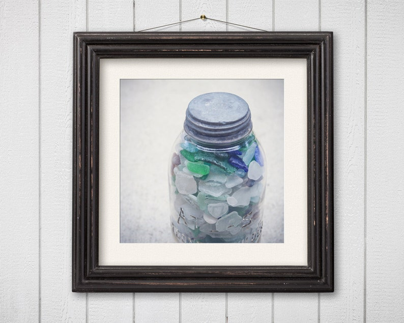 Still Life Photography Beach Glass Nautical Coastal Decor image 0