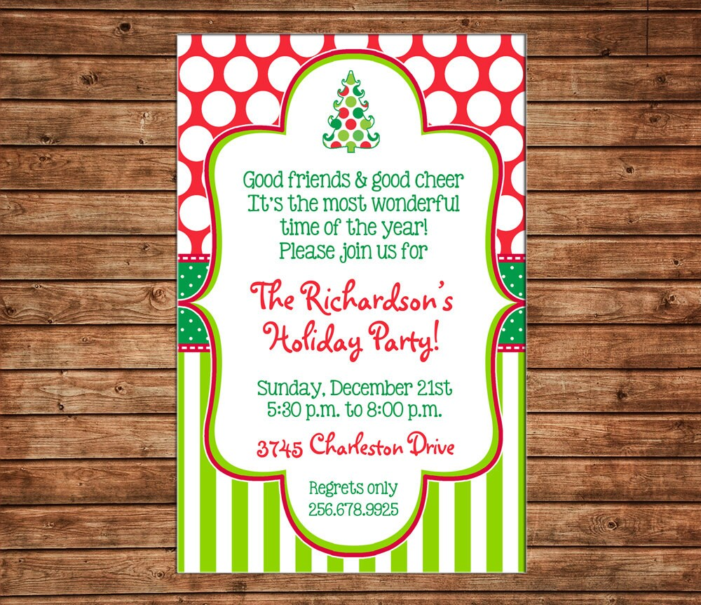 Christmas Holiday Invitation Open House Party Can