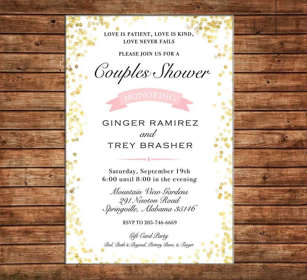 Invitation Glitter Confetti Brunch Baby Shower Wedding Birthday ...