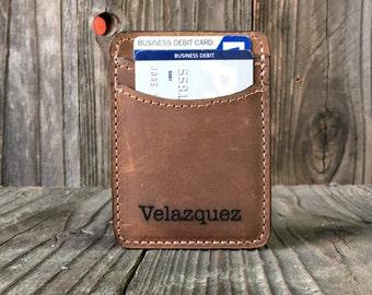 Credit card holder etsy cash band credit card holder personalized wallet slim leather wallet crazy horse reheart Images