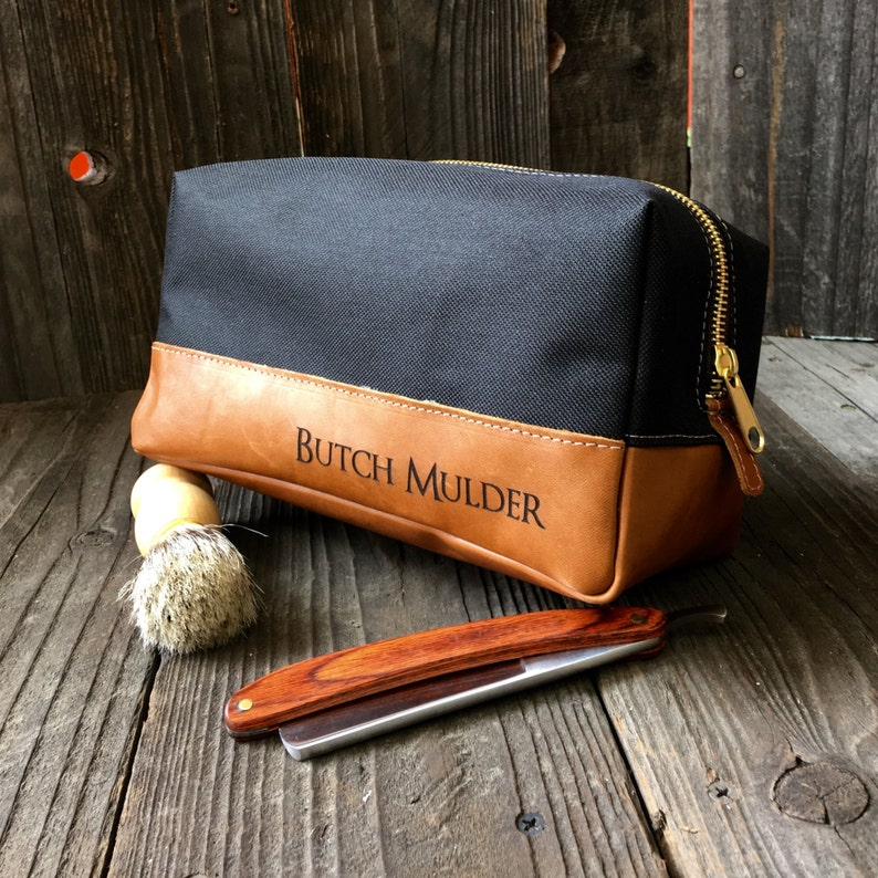 695bd1f2cb54 Leather Dopp Kit Mens Toiletry Bag Groomsmen Gifts