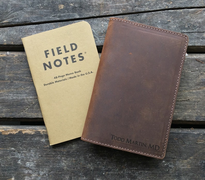 Field Notes Leather Cover  Journal Cover  Crazy Horse image 0