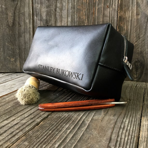 9cb06becbc8 Personalized Dopp Kit Mens Toiletry Bag Leather Toiletry   Etsy