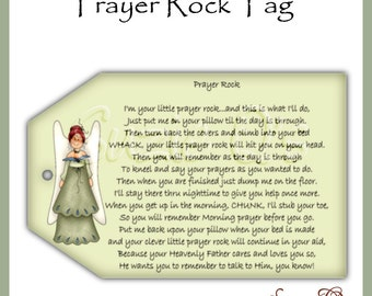 graphic about Prayer Rock Printable named Prayer rock Etsy