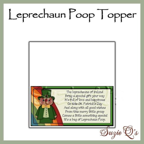 Leprechaun Poop Topper - Digital Printable - Immediate Download