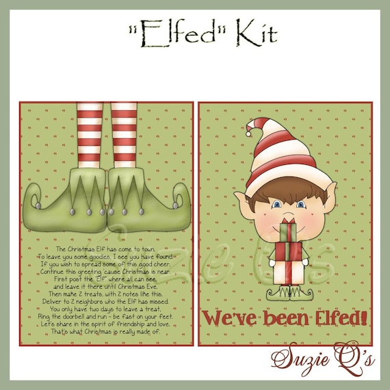 image regarding You've Been Elfed Printable identify Youve Been Elfed Package - Electronic Printable - Prompt Down load