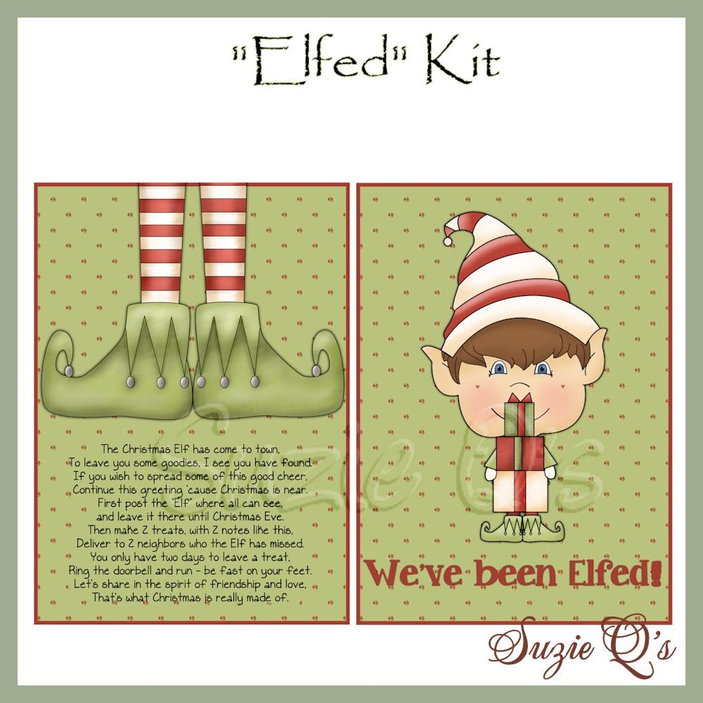 image about You've Been Elfed Free Printable named Youve Been Elfed Package - Electronic Printable - Prompt Down load