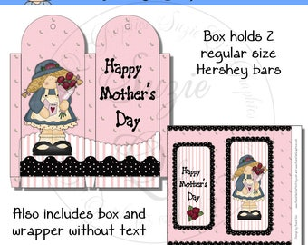 Candy Wrapper and Matching Box for Mom - Mother's Day or any occasion - Digital Printable - Immediate Download