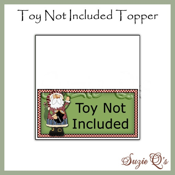 picture relating to Gift Not Included Printable named Toy Not Involved Topper - Electronic Printable - Gag Present or Craft Clearly show Product or service - Fast Down load