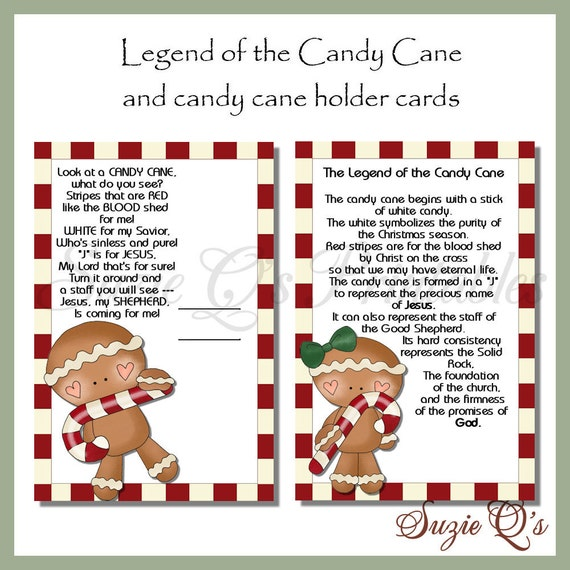 picture relating to Legend of the Candy Cane Printable called Legend of the Sweet Cane Card - Electronic Printable - Prompt Obtain