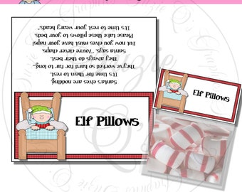Elf Pillows Topper - Digital Printable - Immediate Download