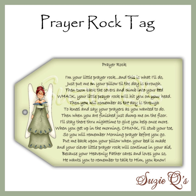 photograph relating to Prayer Rock Poem Printable referred to as Prayer Rock Tags - CU Electronic Printable - Instantaneous Obtain