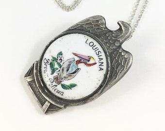 Pelican 925 Argent Sterling Collier Chaîne et pendentif #1826