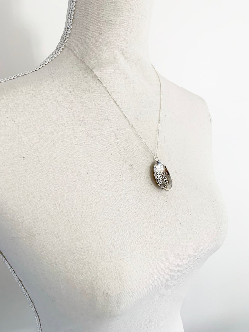 Alberta Necklace Alberta Jewelry Alberta Canada Wild Rose Jewelry Alberta Woman Wild Rose Gift Spoon Necklace Spoon Jewelry