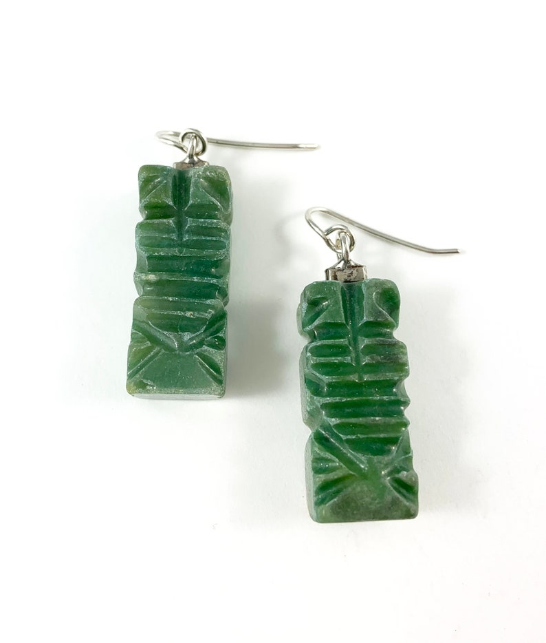 Mexico Woman Gift Aztec Earrings Mexican Jade Charm Jade Earrings Mexico Folk Art Mexico earring Mexico Jewelry Mexican Jade Earrings