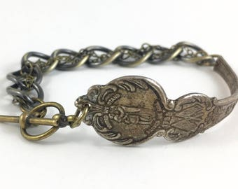 Kentucky Bracelet, Kentucky Jewelry, Spoon Bracelet, Spoon Jewelry, Kentucky Seal, Vintage Kentucky, Kentucky Gift, Kentucky Souvenir (a)