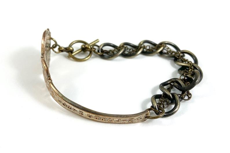 Wife Gift North Carolina Bracelet North Carolina Seal North Carolina Jewelry North Carolina Charm Vintage North Carolina Spoon Bracelet