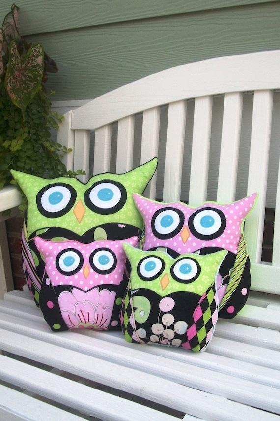 Owl Sewing Pattern - Owl Pillow - PDF Pattern 3 Sizes, Easy Pillow ...