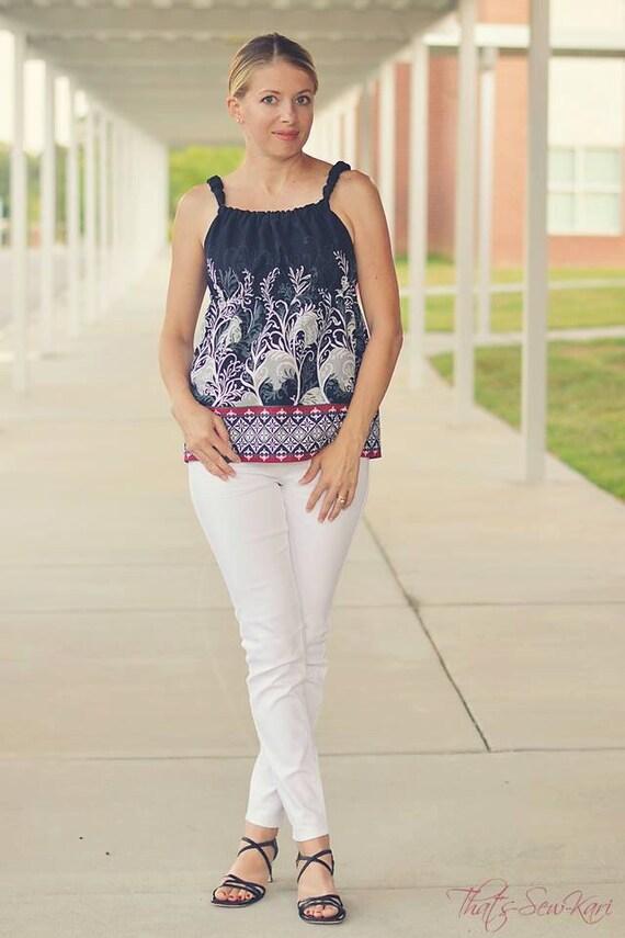Teen to Plus Size Sundress Pattern, Empire Waist Dress, Dress  Empire,Jumper, Sundress or Top PDF Pattern Tutorial xxs-xxl