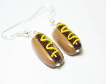Handmade Hotdog earrings