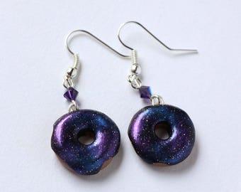Galaxy Donut Dangle Earrings